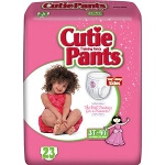 Prevail ® Cuties Training Pants Pull Ups for Girls, 3T-4T, 32 to 40 lb, Elastic Waistband, Comfortable - Qty: PK of 23 EA