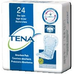 TENA � Dry Comfort Light Absorbency Day Pad, White, Latex-free - Qty: PK of 24 EA