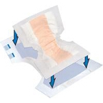"Tranquility ® Topliner Booster Contour Adult Incontinence Protective Pad 15"" x 20"", Sterile, Latex-free - Qty: PK of 12 EA"