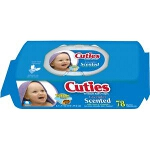 Cuties Baby Wipes Quilted Soft Pack - Qty: PK of 78 EA