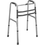 Mabis DMI Healthcare Single Release Aluminum Folding Walker 21-1/2