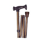 Mabis DMI Healthcare Adjustable Folding Cane with Ergonomic Handle Bronze, 33