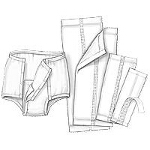 Kendall Healthcare Handicare Unigard Pant Liners with Adhesive Strip 8