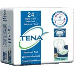 TENA ® Super Night Pad, Green, Latex-free - Qty: PK of 24 EA